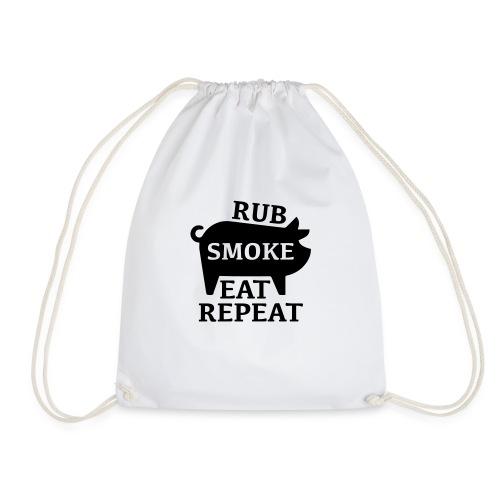 RUB SMOKE EAT REPEAT - Turnbeutel