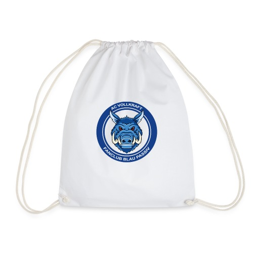 Blau Passiv Fanclub Logo - Turnbeutel