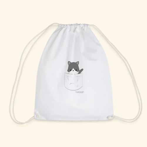 Katze in Tasche - Turnbeutel