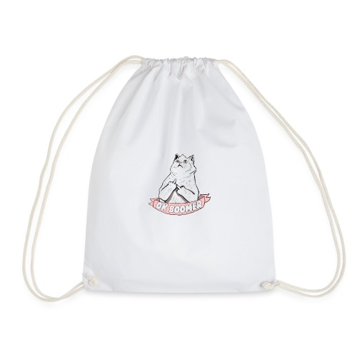 OK Boomer Cat Meme - Drawstring Bag