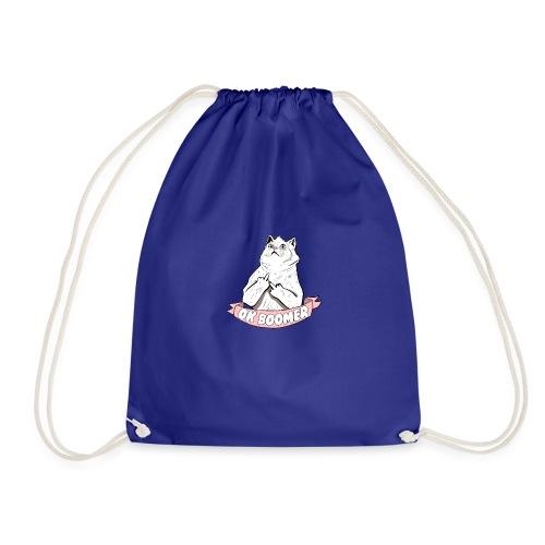 OK Boomer Cat Meme - Drawstring Bag
