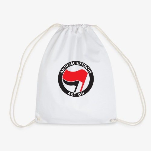 Atnifaschistische Action - Antifa Logo - Drawstring Bag
