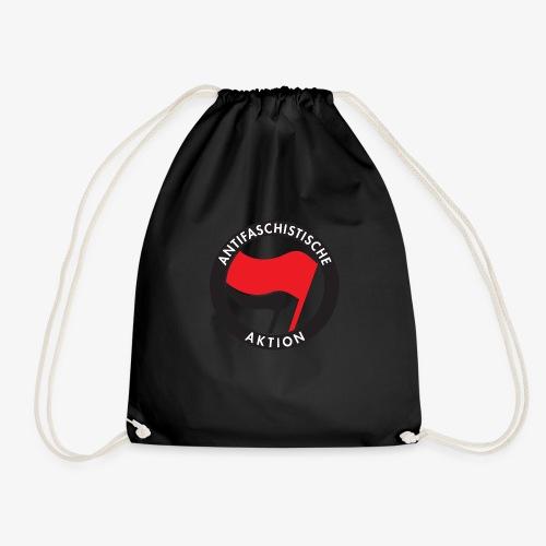 Atnifaschistische Action - Antifa Logo - Drawstring Bag
