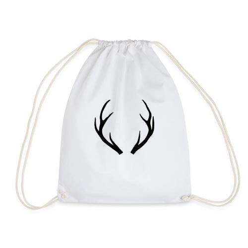 deer antler - Drawstring Bag