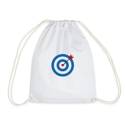 LOVE TARGET - Drawstring Bag