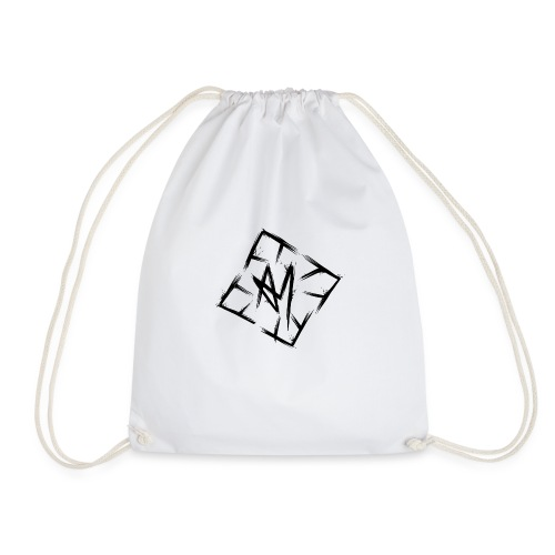 Across Yourself - Logo black transparent - Drawstring Bag