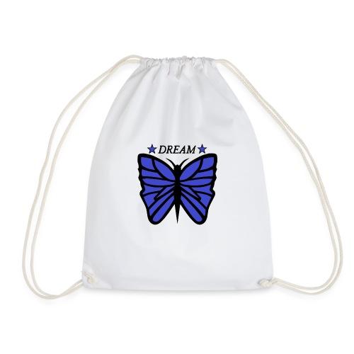 Motiv på en fjäril med ordet dream över. - Gymnastikpåse