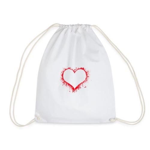 corazón pintura - Mochila saco