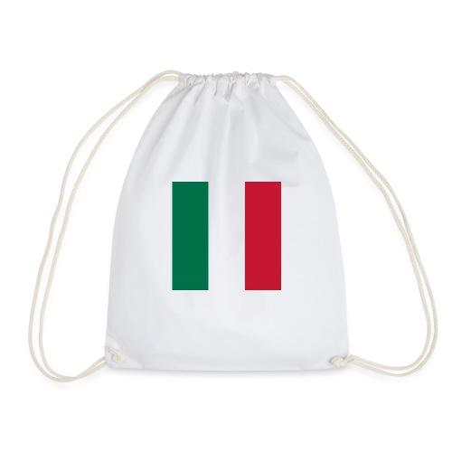 italy square flag - Drawstring Bag