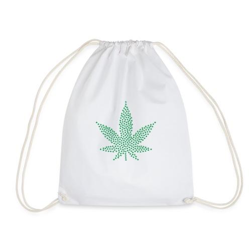 Marihuana Blatt Cannabis - Turnbeutel