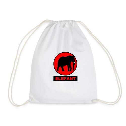 elefant rot - Turnbeutel