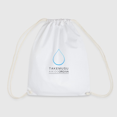 Takemusu Aikido Orgiva - Blue Water Drop - Drawstring Bag