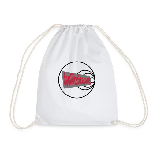 demilitarize org final 1st edition - Drawstring Bag