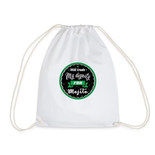 Trade my dignity for mojitos - Drawstring Bag