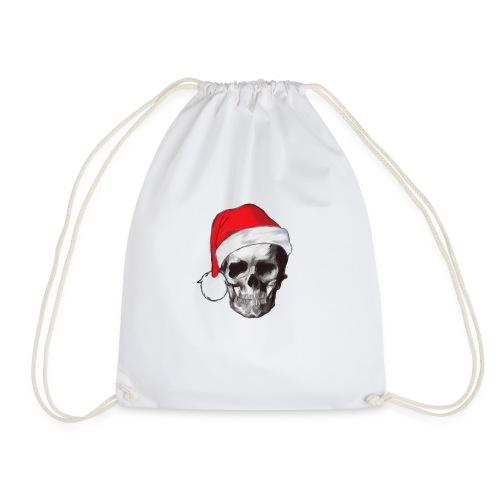 weihnachten-skull Weihnachtsmann - Turnbeutel
