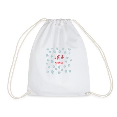 Let it snow, coffee - Drawstring Bag