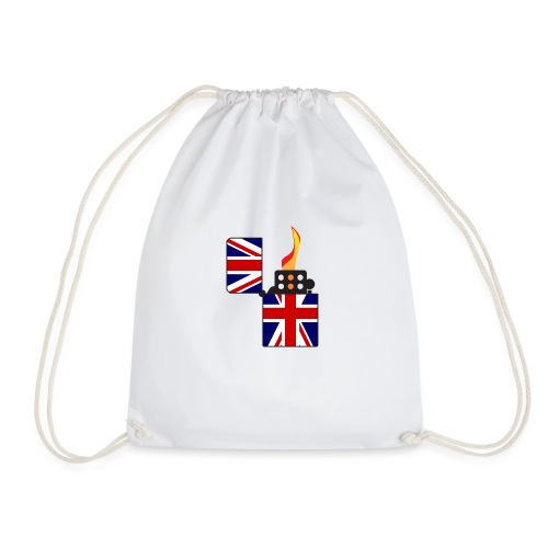 Union Jack Flag Open Cigarette Lighter - Drawstring Bag