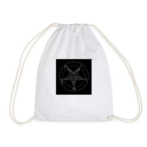 Satan/Pentagram - VHS Effekt - Störung - Glitch - Turnbeutel