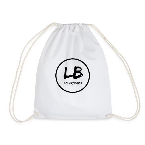 Lolbroekies Merchandise Wit/zwart - Gymtas