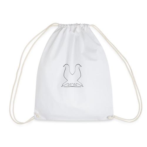 2pigeonswhite png - Drawstring Bag
