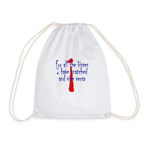 for all the kisses - Drawstring Bag