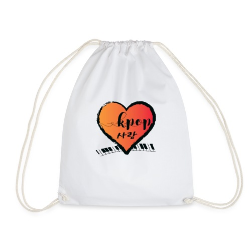 KPOP SARANG heart - Drawstring Bag