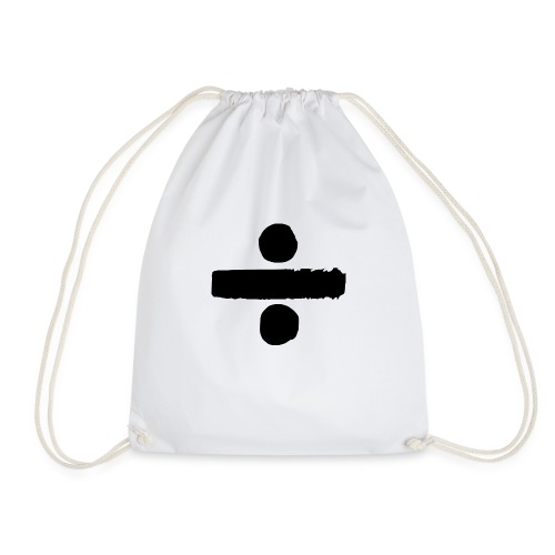 Quirky Divide Sign - Drawstring Bag