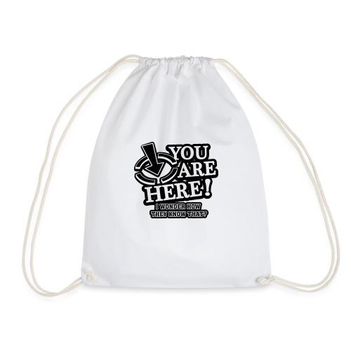 bbb_youarehere_shirt - Drawstring Bag
