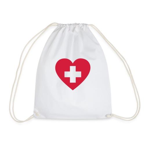 Swiss heart - Turnbeutel