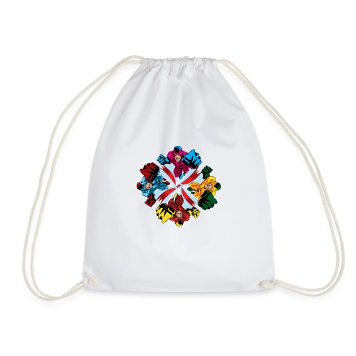 Flying Fist Men's T shirt - Drawstring Bag