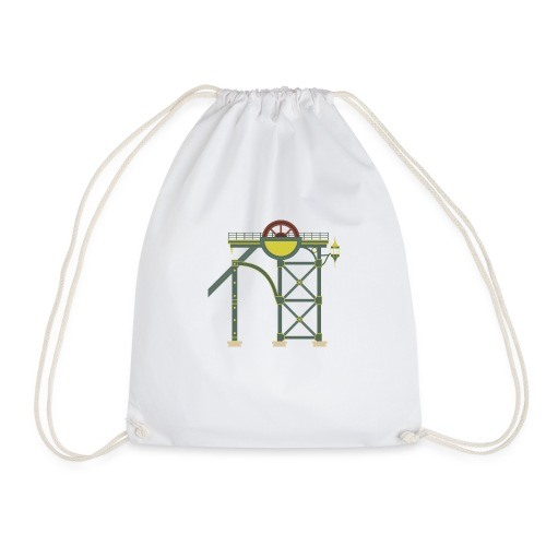 Themepark Mine Tower - Drawstring Bag
