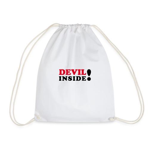 Devil inside - Schriftzug - Turnbeutel