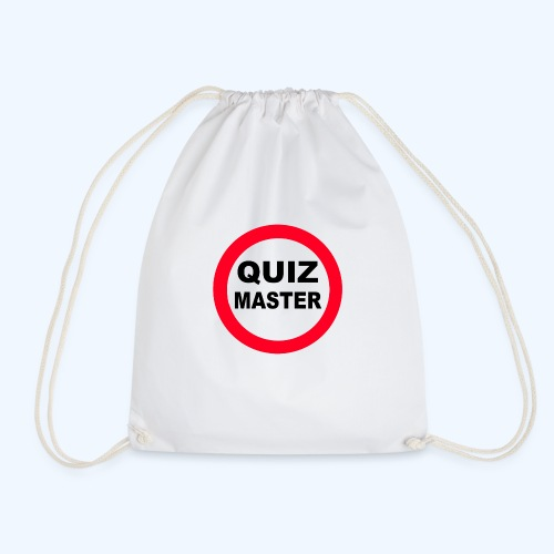 Quiz Master Stop Sign - Drawstring Bag