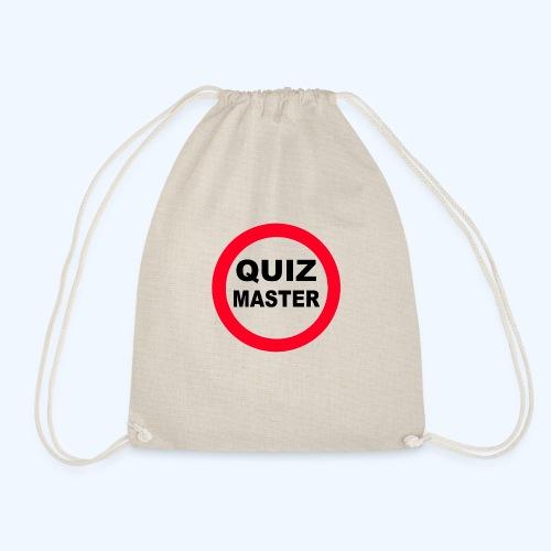 Quiz Master Stop Sign - Drawstring Bag