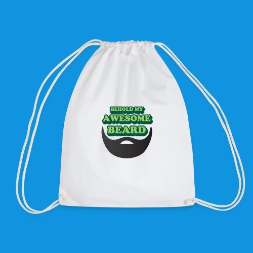 Awesome Beard - Drawstring Bag