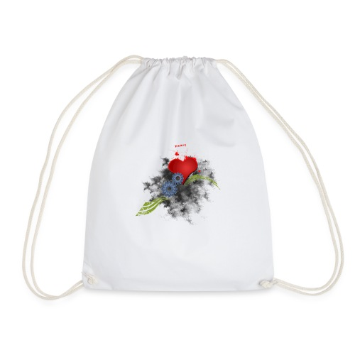 Cycling, get your heart into gear long sleeve - Drawstring Bag