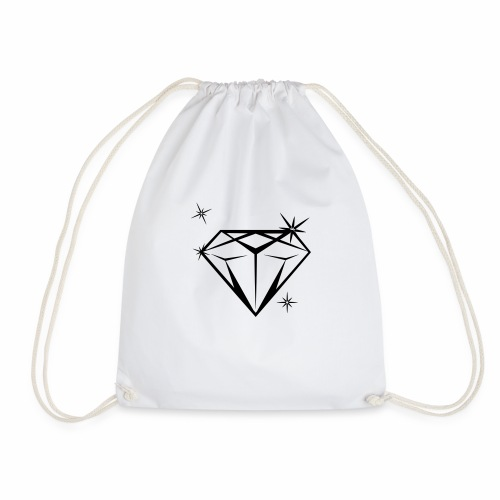 diamonds_blanco - Turnbeutel