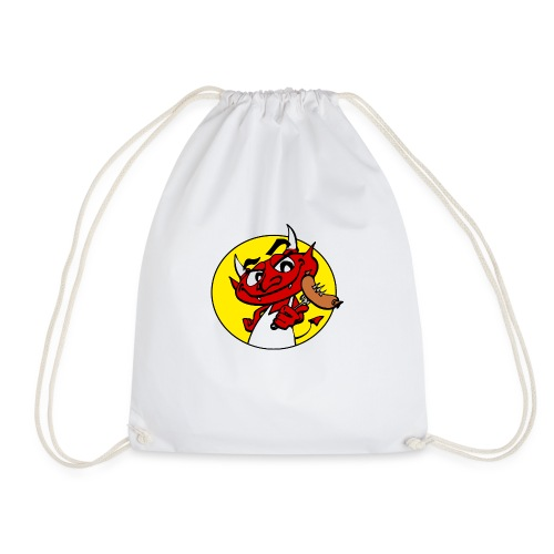 bbc devil circle - Drawstring Bag