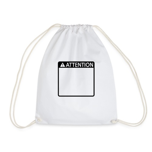 Attention Sign (1 colour) - Drawstring Bag