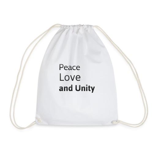 peace love and unity - Drawstring Bag