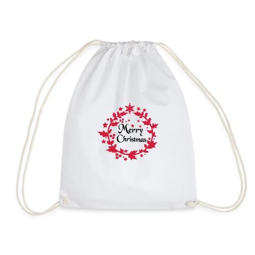 Merry Christmas lease decoration - Drawstring Bag