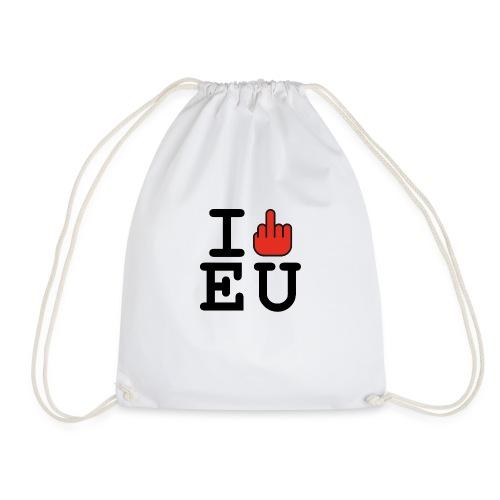 i fck EU European Union Brexit - Drawstring Bag