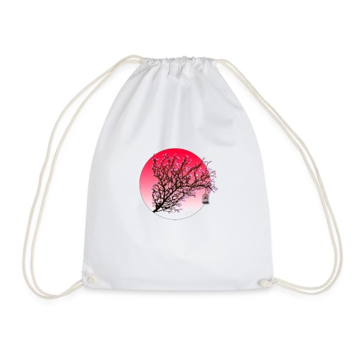 japan blossom - Drawstring Bag