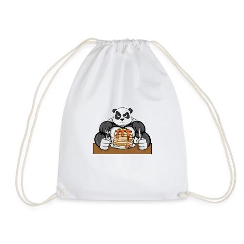 Fitness Panda eat Pancakes - Turnbeutel