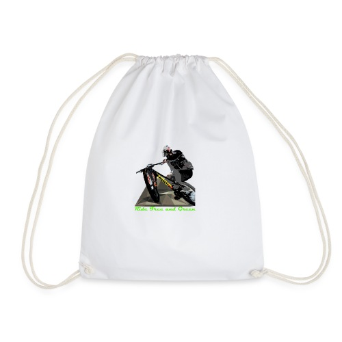 Ride Free and Green merch - Drawstring Bag