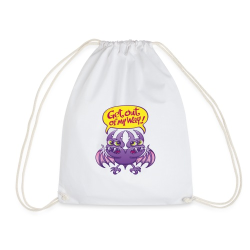 Get out of my way two-headed bat - Drawstring Bag