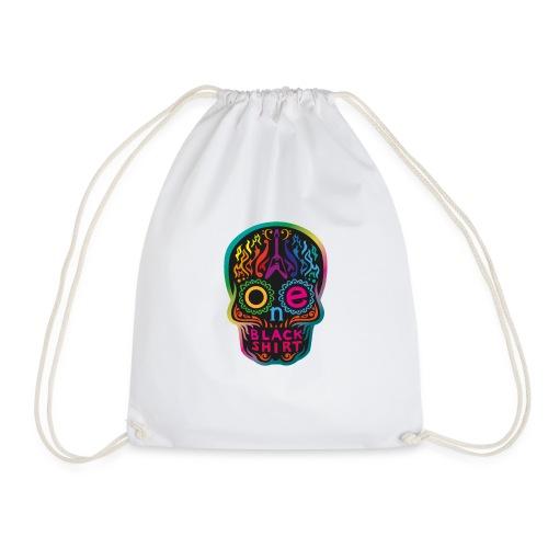 OBS Skull rainbow gif - Turnbeutel