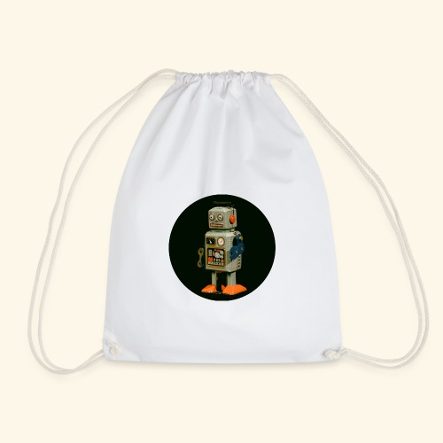 Vintage Robot round - Turnbeutel