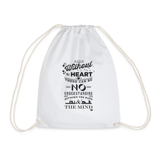 Without the heart black - Drawstring Bag