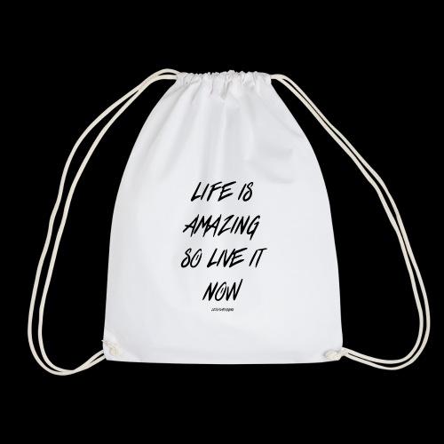Life is amazing Samsung Case - Drawstring Bag